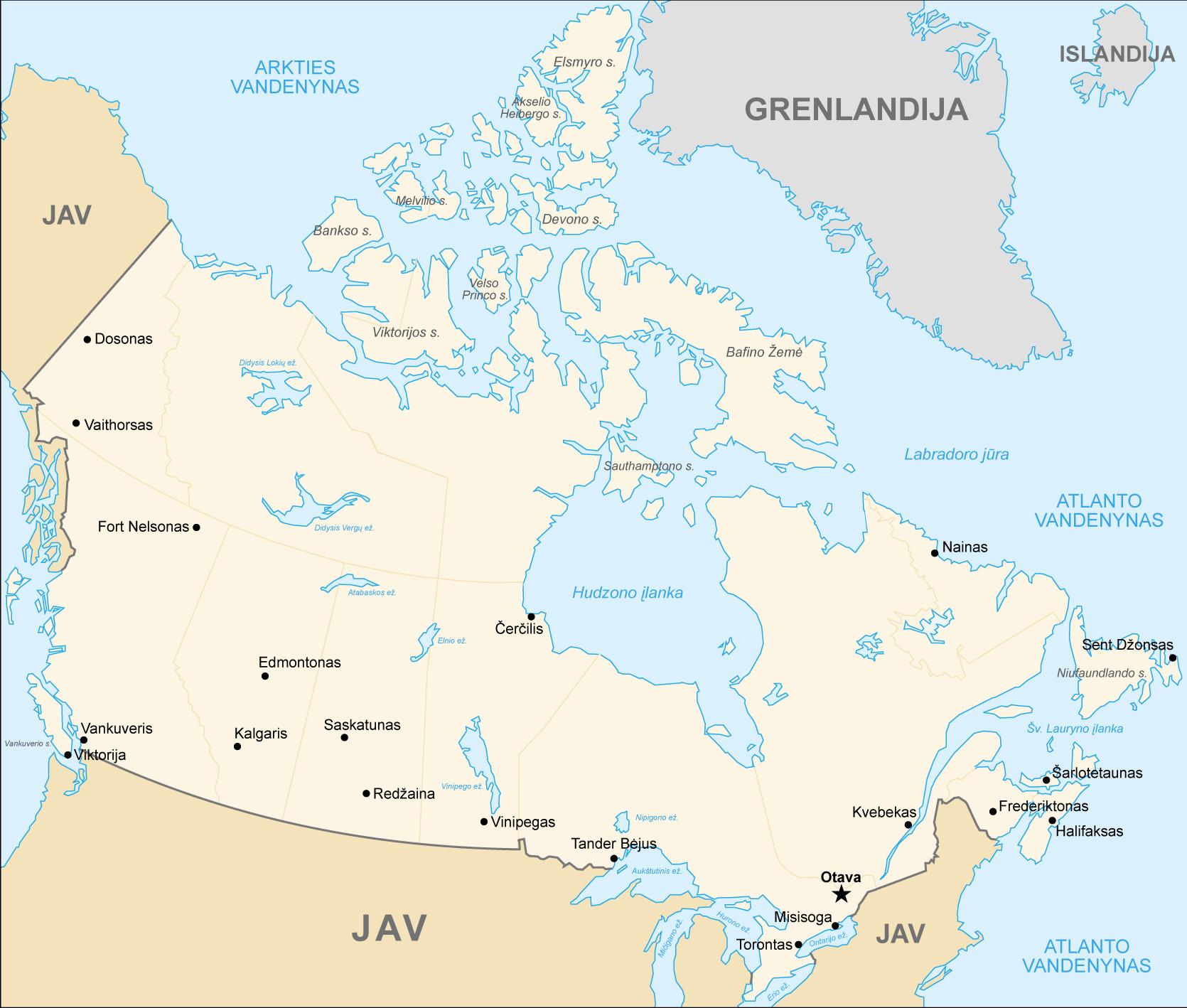 Kanada Haritası